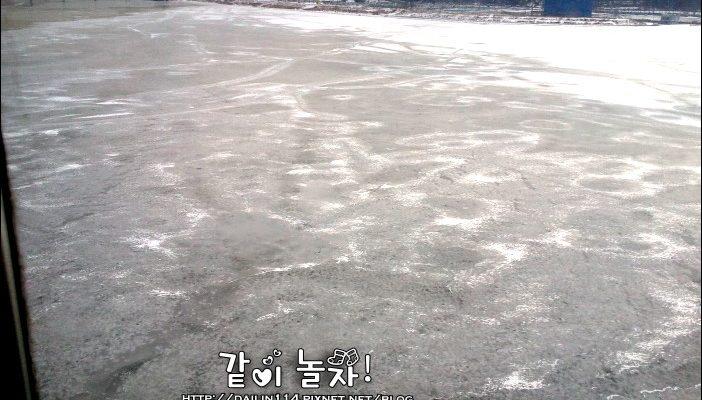 韓國漢江 出大太陽卻結冰 한강 @Gina Lin