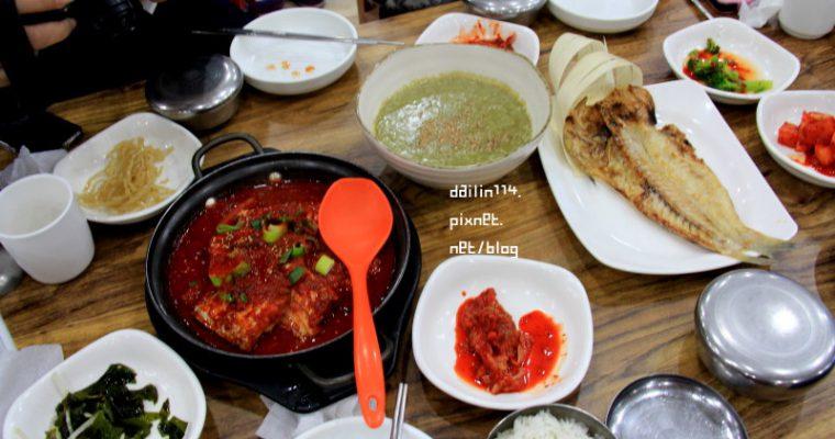 濟州島美食記》城山日出峰附近餐廳 海鮮吃不停 제주 성산일출봉 등경돌식당 @Gina Lin