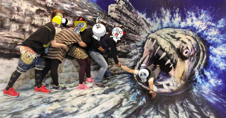弘大Trickeye特麗愛3D美術館 拍照拍不停 홍대 트릭아이미술관 @Gina Lin