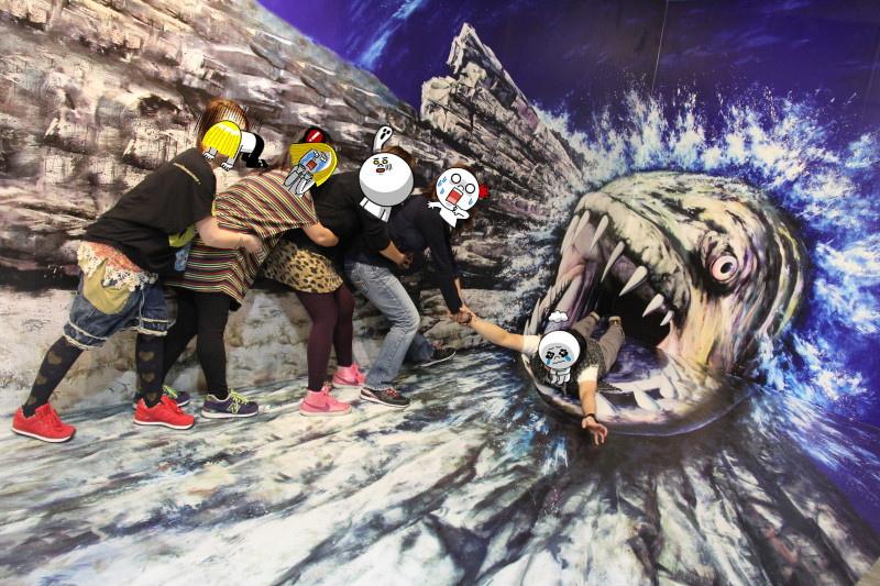 弘大Trickeye特麗愛|3D美術館|瘋狂拍照拍不停|홍대 트릭아이미술관 @GINA環球旅行生活|不會韓文也可以去韓國