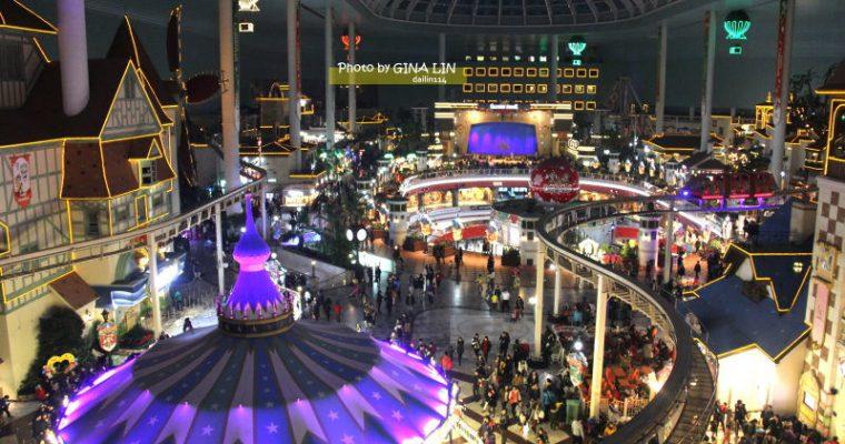 首爾市區樂園》蠶室 樂天世界 LOTTE WORLD 聖誕 搭首爾地鐵就可以到!롯데월드 @Gina Lin