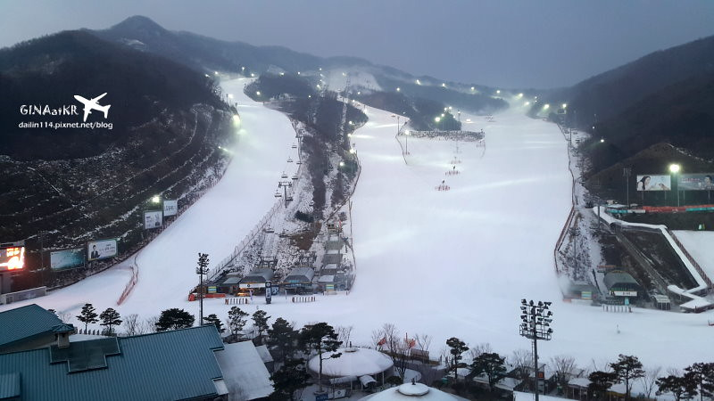 【京畿道滑雪場】昆池岩渡假村(Konjiam Resort)韓國LG集團| 介紹滑雪裝備/租借用具及體驗心得/注意事項 @GINA環球旅行生活|不會韓文也可以去韓國