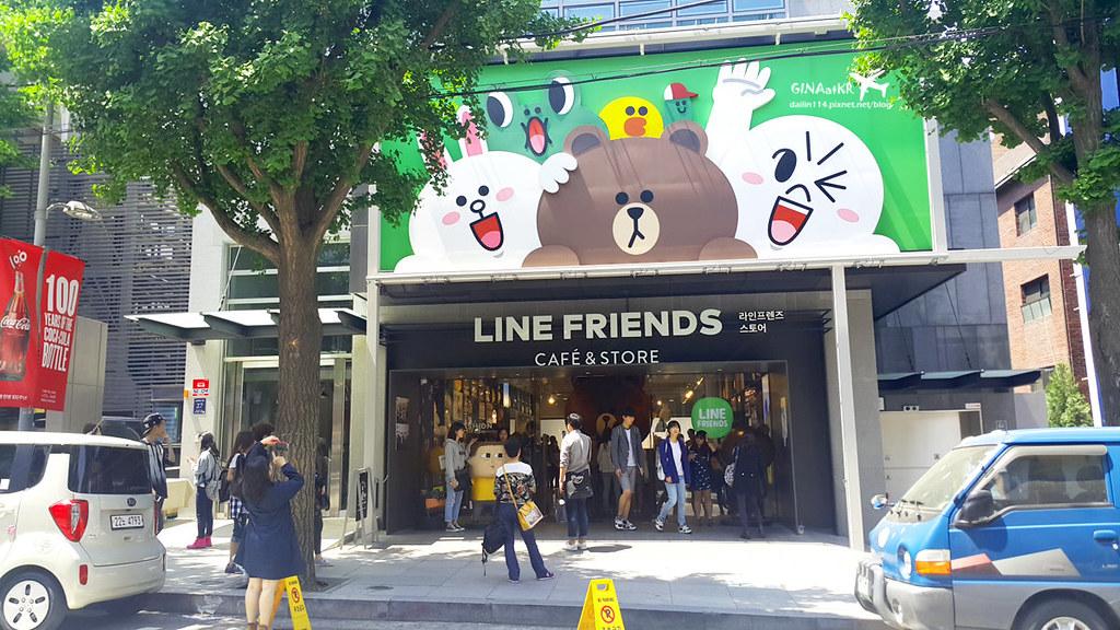 【首爾江南購物】新沙站林蔭大道|LINE Friends Story|官方周邊商品旗艦專賣店|LINE CAFE 馬卡龍、熊大巧克力|附交通方式地圖 @GINA環球旅行生活|不會韓文也可以去韓國