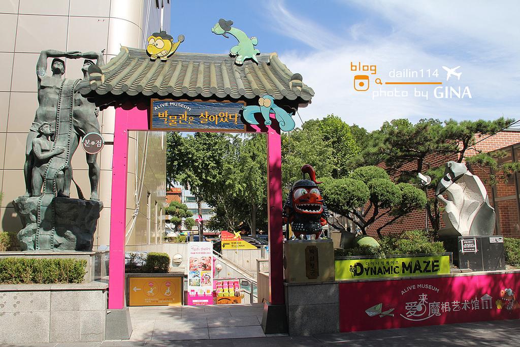 愛來魔相4D藝術館|韓國密室逃脫遊戲-智勇迷宮*韓劇你為我著迷、韓綜Jessica & Krystal取景地,靠近鍾路三街、鐘閣、安國站附近  박물관은 살아있다 @GINA環球旅行生活|不會韓文也可以去韓國