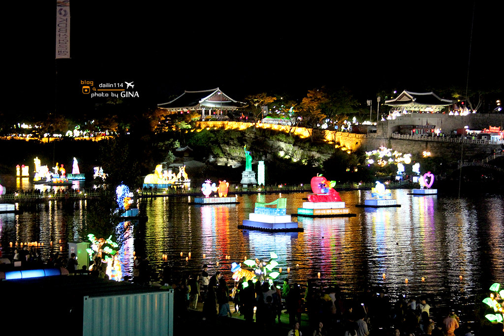 【慶尚南道】韓國晉州|南江流燈節|韓國人旅遊路線|每年10月季節限定(可搭配釜山自由行玩樂) @GINA環球旅行生活