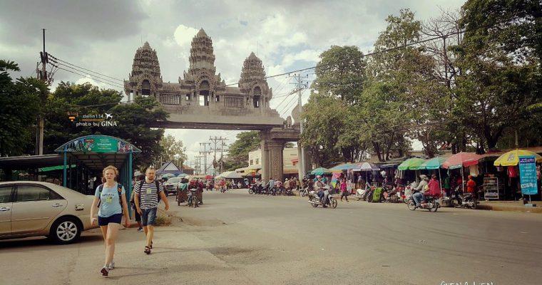 柬埔寨自由行》從泰國邊境到柬埔寨邊境到暹粒(吳哥窟)市區 柬埔寨簽證、交通方式(曼谷考山路買車票行程教學) @Gina Lin