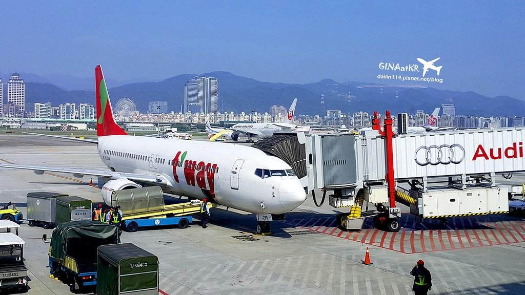 台北松山直飛首爾金浦》 韓國LCC廉價航空T'way德威航空(티웨이항공)初體驗(比較廉價航空 / 遲到被拒辦理登機慘痛經驗分享 / 被拒辦理登機怎麼辦?) @Gina Lin