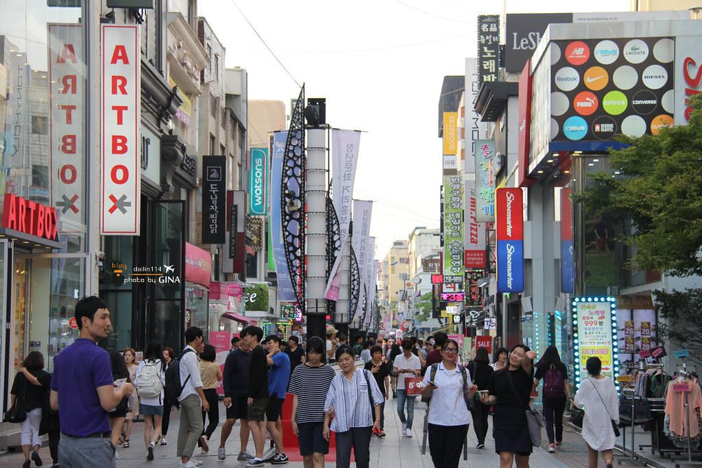 【清州購物】城內路景點|城安街|最繁華的年輕人街道,來去逛街採買囉! @GINA環球旅行生活