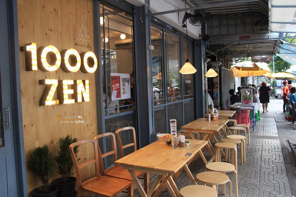 曼谷自由行》曼谷特色餐廳1000ZEN 泰國麵料理 近BTS Chong Nonsi 站 (S3) @Gina環球旅行生活
