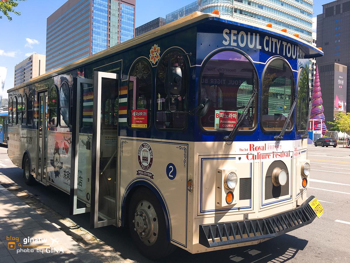 【2020首爾城市觀光巴士】 Seoul City Tour Bus 時刻表+路線圖 環遊江南跟江北/漢江美景/明洞逛街換錢去(一品香/大使館匯率)+ LINE FRIENDS商店 @GINA環球旅行生活|不會韓文也可以去韓國 🇹🇼