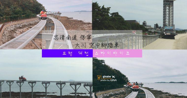 韓國大川海水浴場 海上腳踏車 保寧空中腳踏車 / 空中自行車 SKY BIKE 보령 스카이바이크/ 대천해수욕장 @Gina Lin