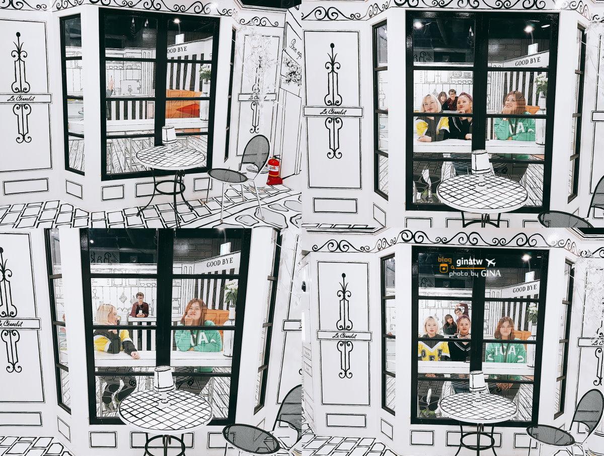 【愛來魔相藝術館.智勇迷宮】首爾仁寺洞室內景點.韓國超火的黑白咖啡廳.附交通地圖+ 韓劇你為我著迷 韓綜JESSICA & KRYSTAL拍攝地 @GINA環球旅行生活|不會韓文也可以去韓國