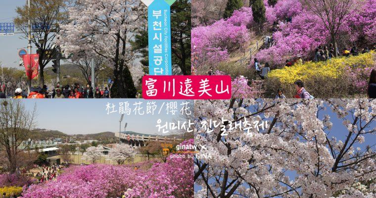 2020韓國京畿道賞櫻花勝地 遠美山杜鵑花節(원미산 진달래축제) @Gina Lin