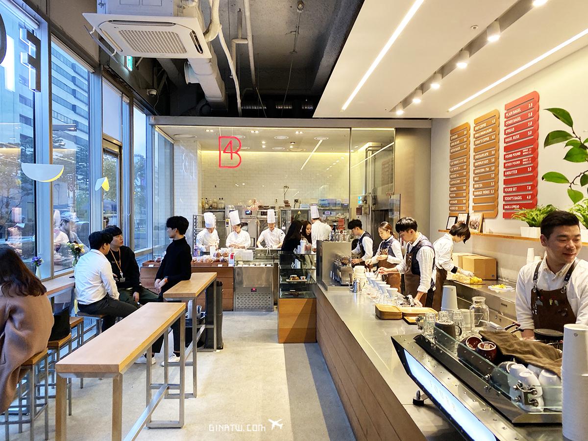 【首爾咖啡廳】FOURB Roastery Bagel|現做貝果下午茶|光化門/鐘閣、合井站、乙支路三街、DMZ分店地址、菜單、營業時間 @GINA LIN