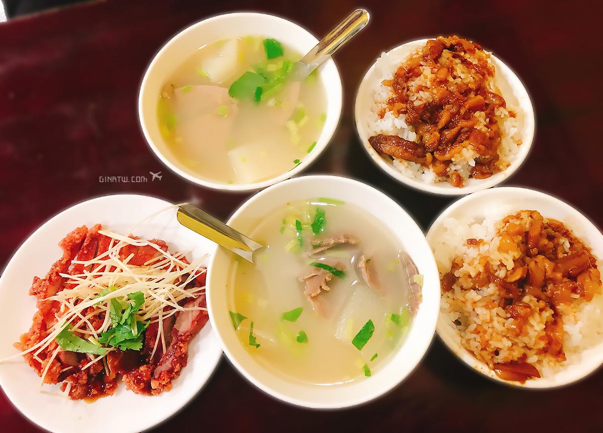 【台北美食】中山區小吃|胡記通化街米粉湯、滷肉飯|林森三店 @GINA環球旅行生活