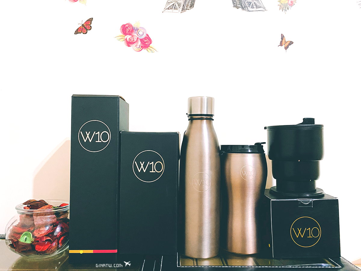 【英國W10貴族杯】不鏽鋼折疊隨身杯、按壓式曲線保溫瓶、曲線隨手杯|Jogroup時尚環保杯 @GINA LIN