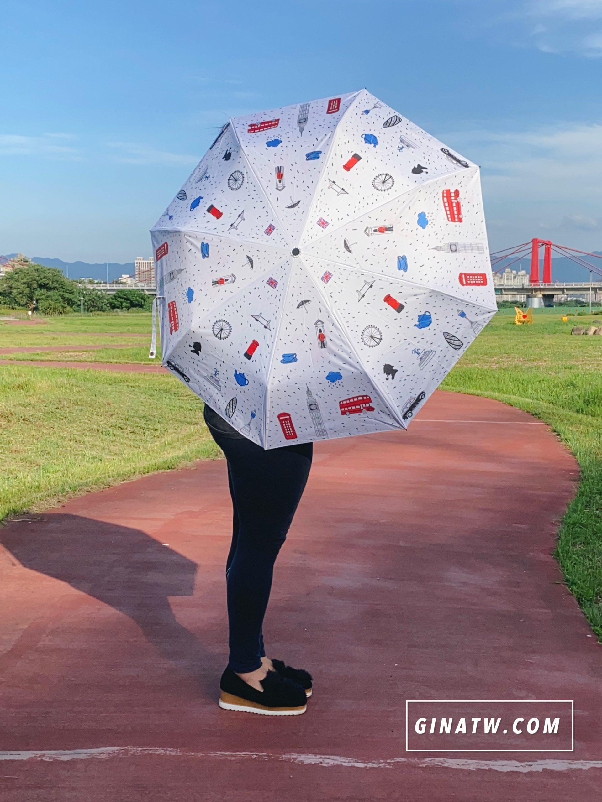 【遮陽雨傘團購】防曬膠英倫風、加大自動傘|夏天必備遮陽傘|限時優惠來哩!不透光雨傘推薦 @GINA環球旅行生活