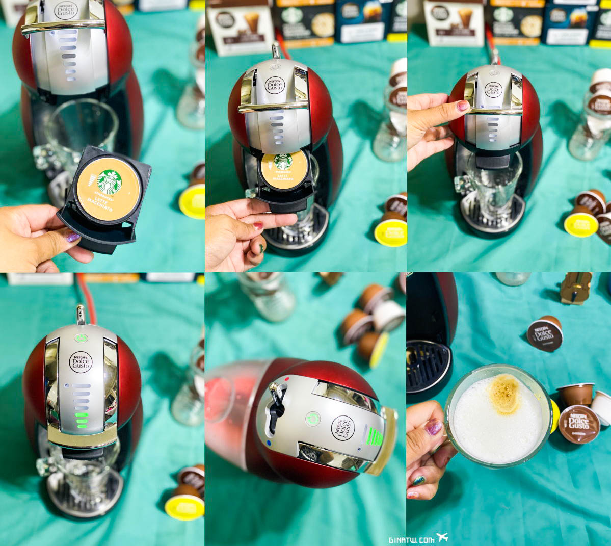 【雀巢多趣酷思膠囊咖啡機】經典企鵝機 Genio 2 星夜紅|NESCAFÉ @GINA環球旅行生活|不會韓文也可以去韓國 🇹🇼