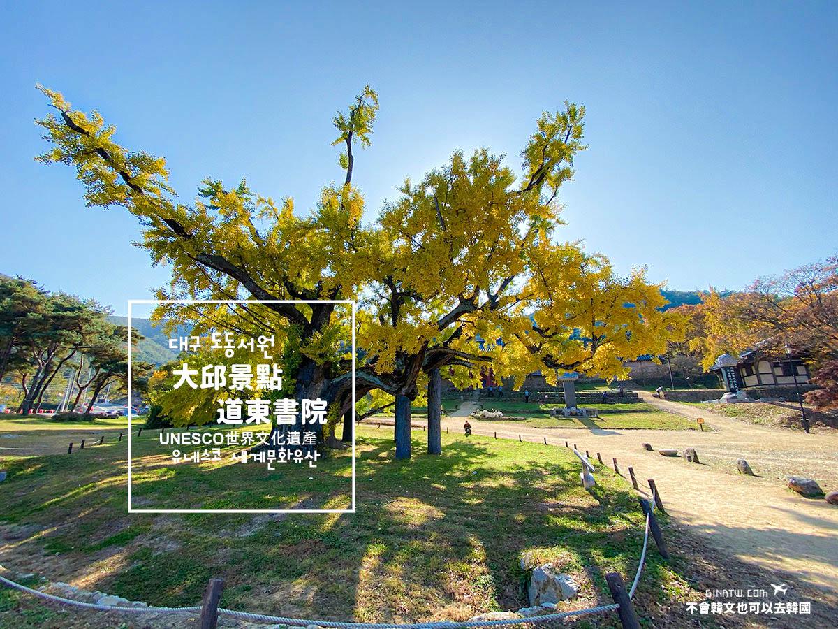 【大邱景點】道東書院|400年歷史銀杏大樹|UNESCO世界文化遺產 @GINA環球旅行生活|不會韓文也可以去韓國